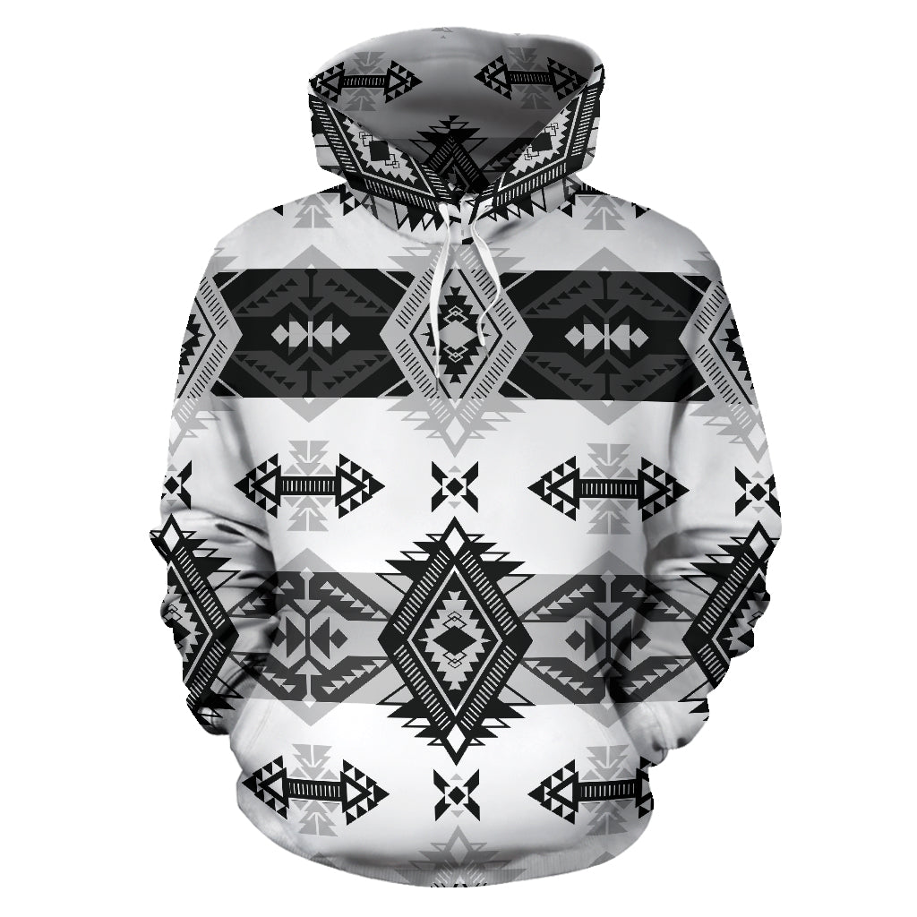 Sovereign Black and White Sokapi Hoodie
