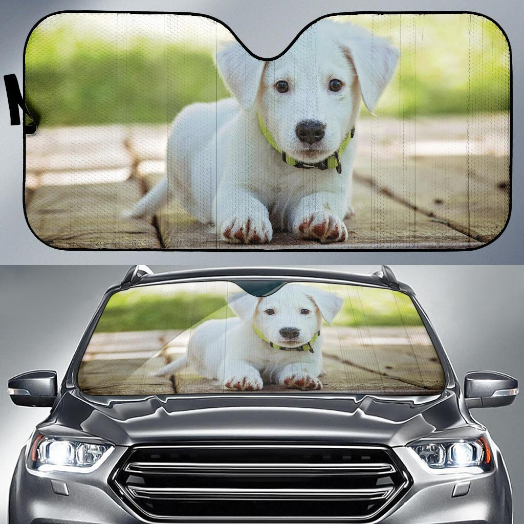 Puppy Cute Dog Auto Sun Shade Windshield