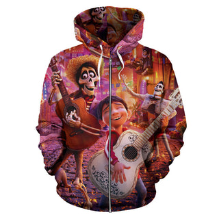 Coco Zip Up Hoodie Halloween Costume
