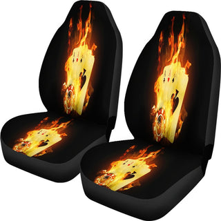Aces On Fire Car Seat Covers