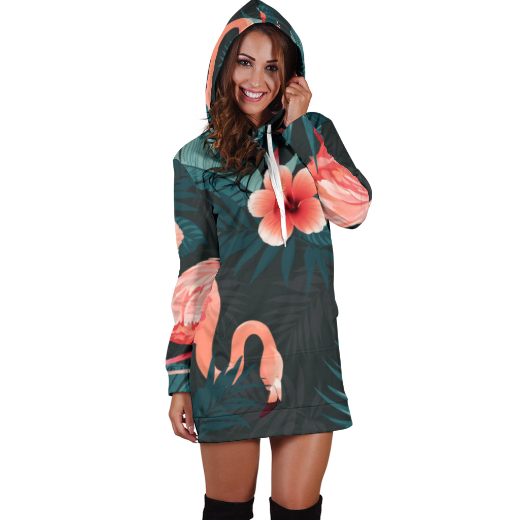 Flamingo Hoodie Dress