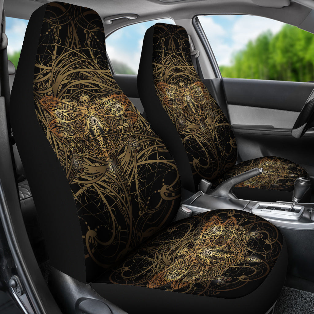 Dragonfly Mandala Car Seat Covers