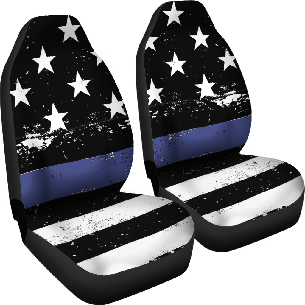Thin Blue Line Car Seat Covers