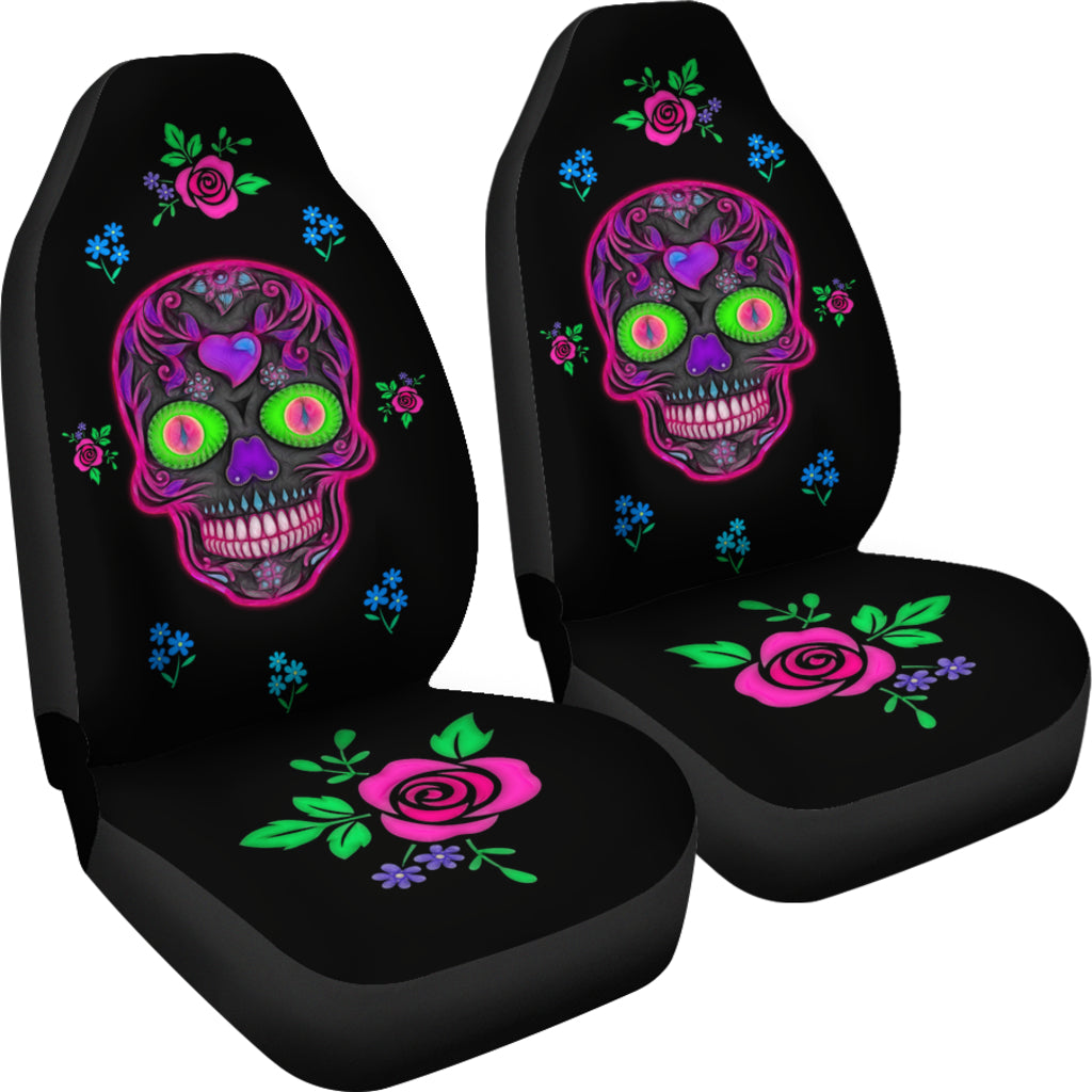 Wicked Skull Car Seat Covers for Skull Lovers