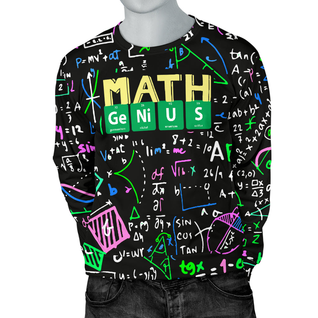 Math Teacher Men's Sweater