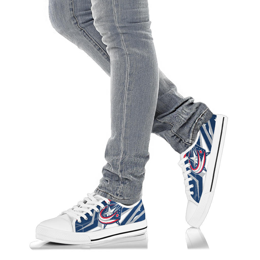 Columbus Blue Jackets Sneakers Low Top Shoes