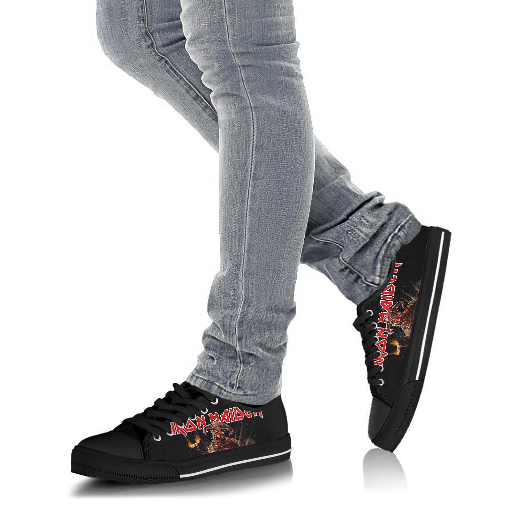 Iron Maiden Shoes Low Top Sneakers For Women