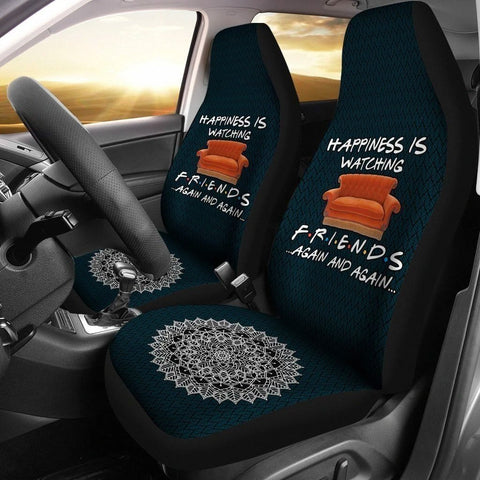 Happiness is watching Friends Tv Show Car Seat Covers