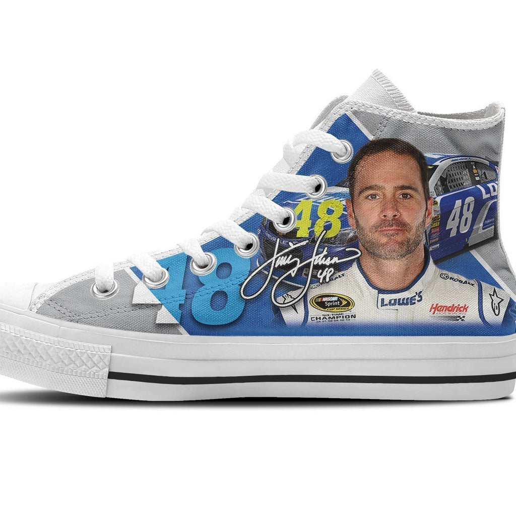 48 Jimmie Johnson Nascar Mens High Top Sneakers