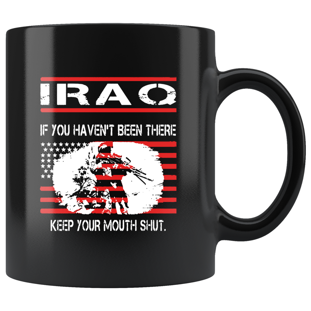 I Roq American Veteran Black Ceramic Coffee Mug Quotes Cup Sayings