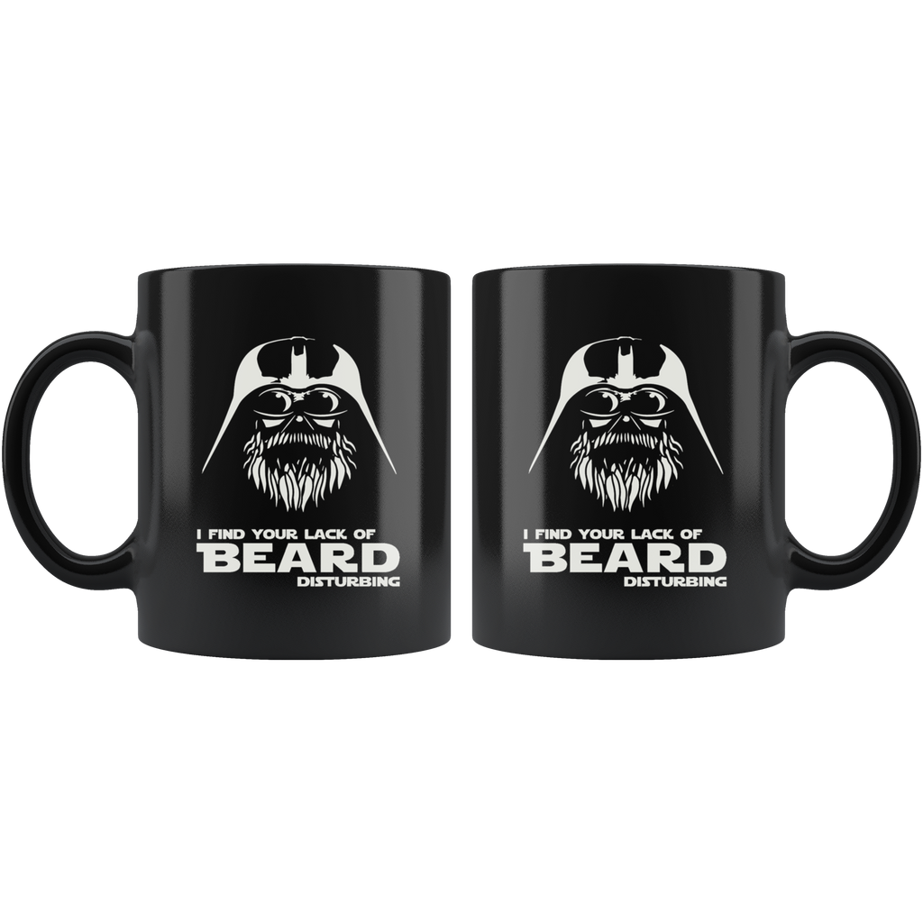 Mustache Vader Beard Black Ceramic Coffee Mug Quotes Cup Sayings