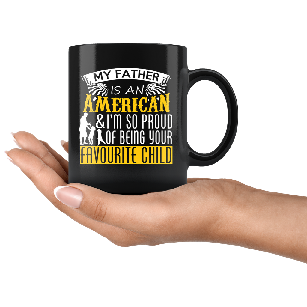 American Dad Black Ceramic Coffee Mug Quotes Cup Sayings For Dad