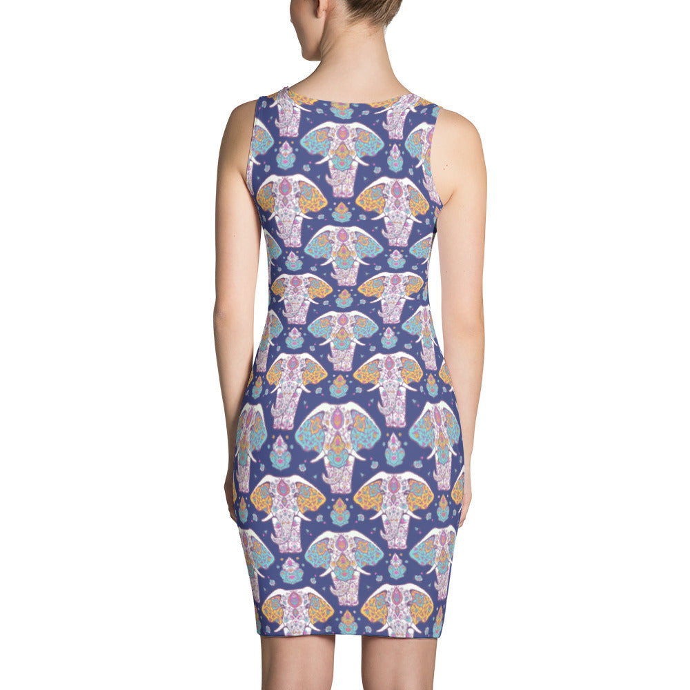 Cute Elephant Sublimation Cut & Sew Dress