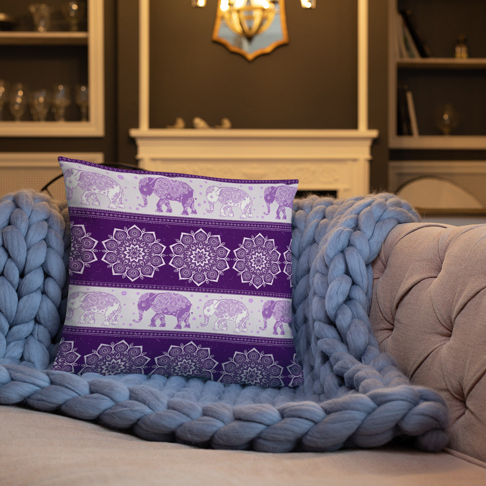 Elephant mandala Basic Pillow