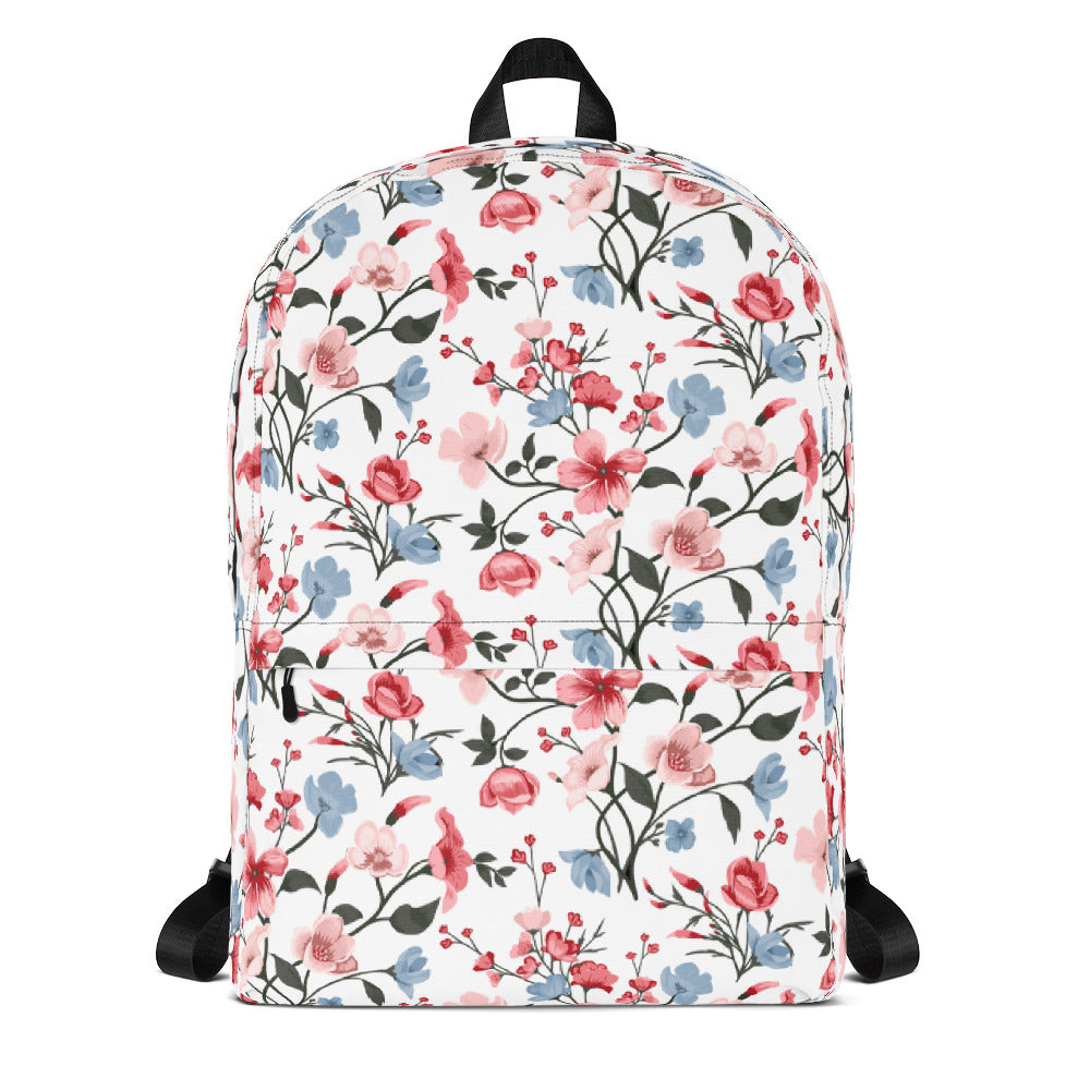 Floral Backpack White Backpack