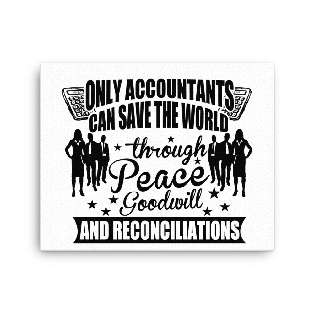 Gifts For Accountants Canvas Wall Art Accountants Canvas Print