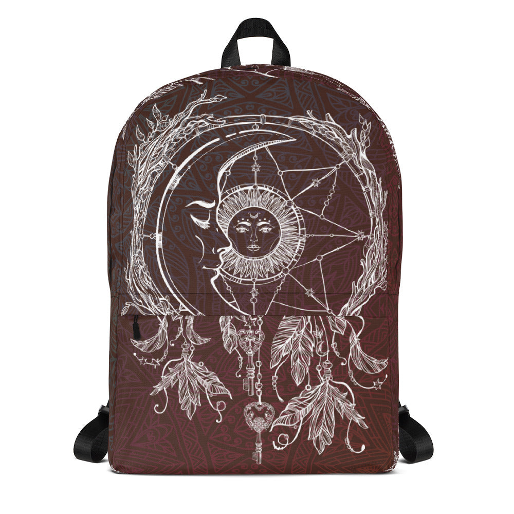 Sun and Moon Backpack Brown Backpack