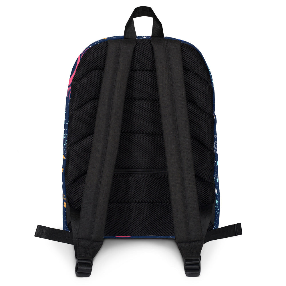 Galaxy Backpack Galaxy Bookbag Navy Blue Backpack
