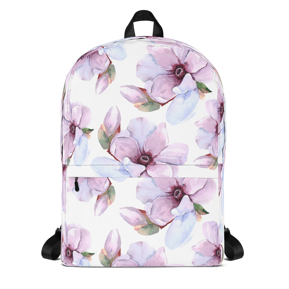 Flower Backpack Floral Backpack Laptop Bag Daypack Schoolbag Bookbag