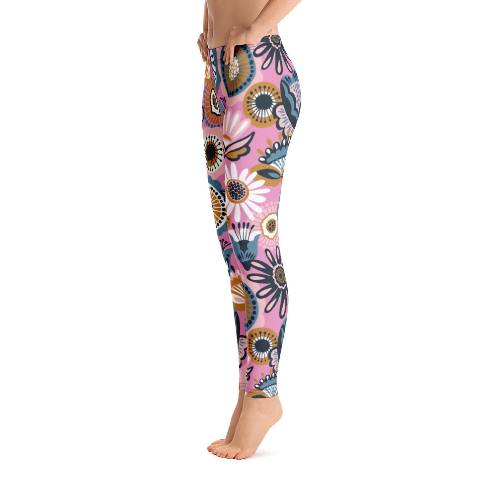 Floral Leggings Pink Leggings
