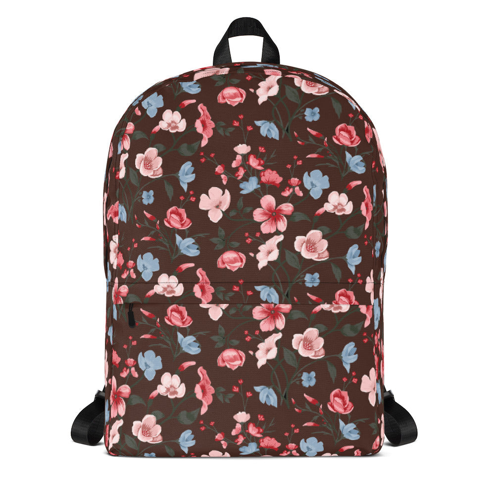 Floral Backpack Brown Backpack