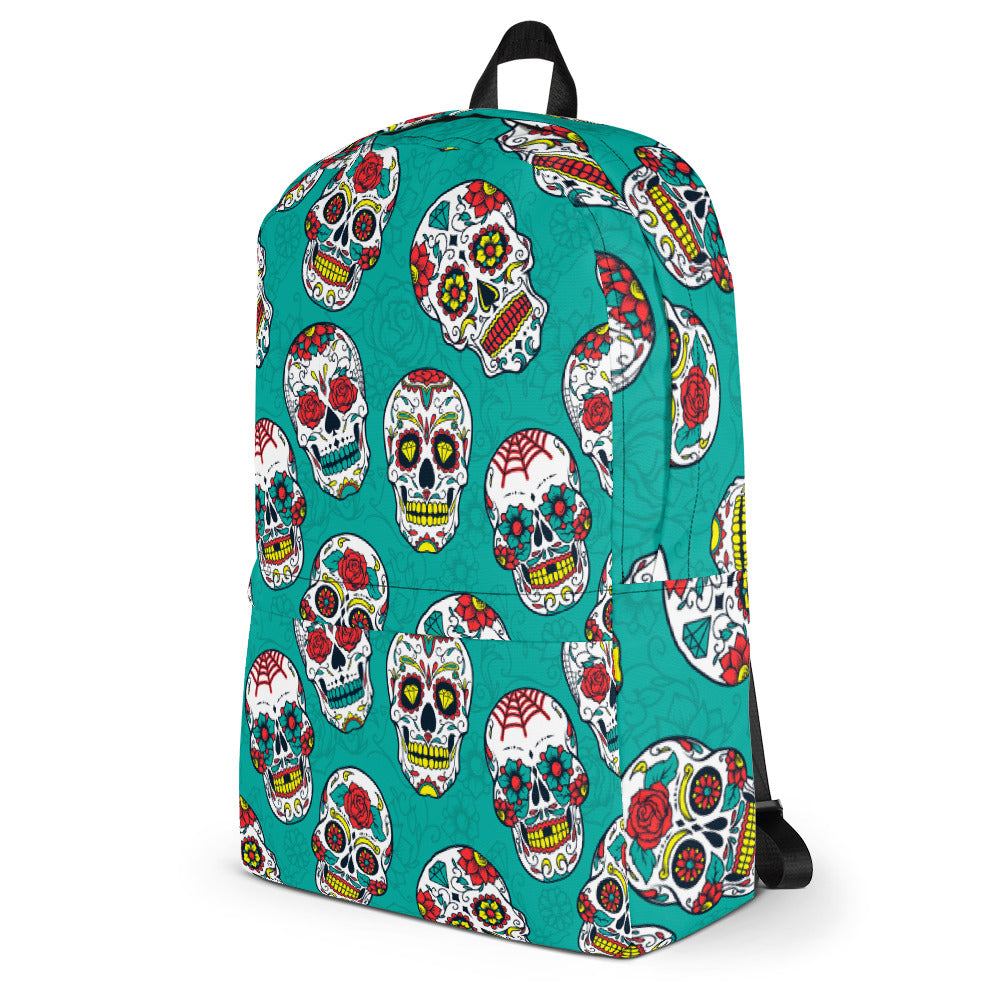 Day of The Dead Backpack Laptop Bag Travel Daypack Schoolbag Bookbag