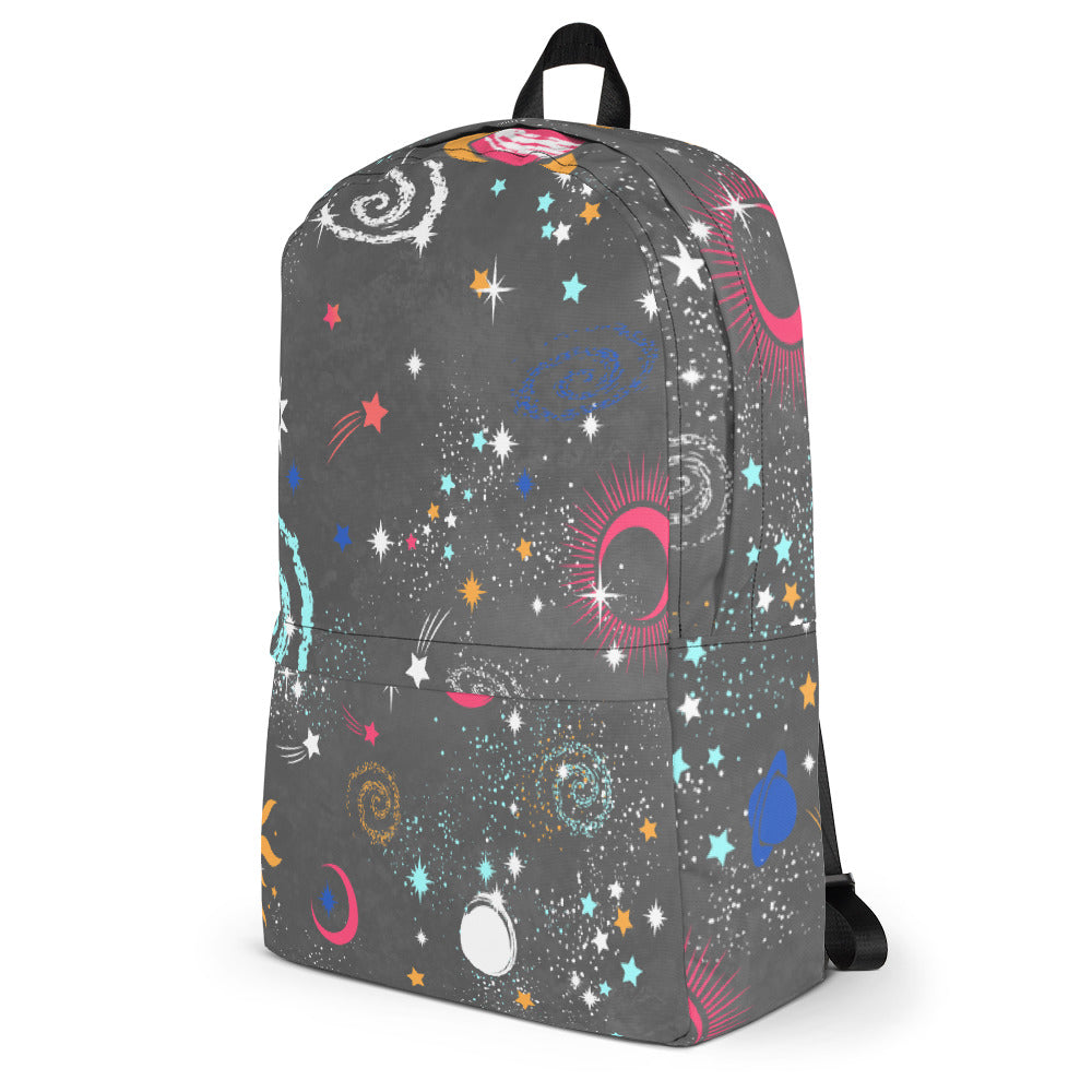 Galaxy Backpack Galaxy Bookbag Grey Backpack