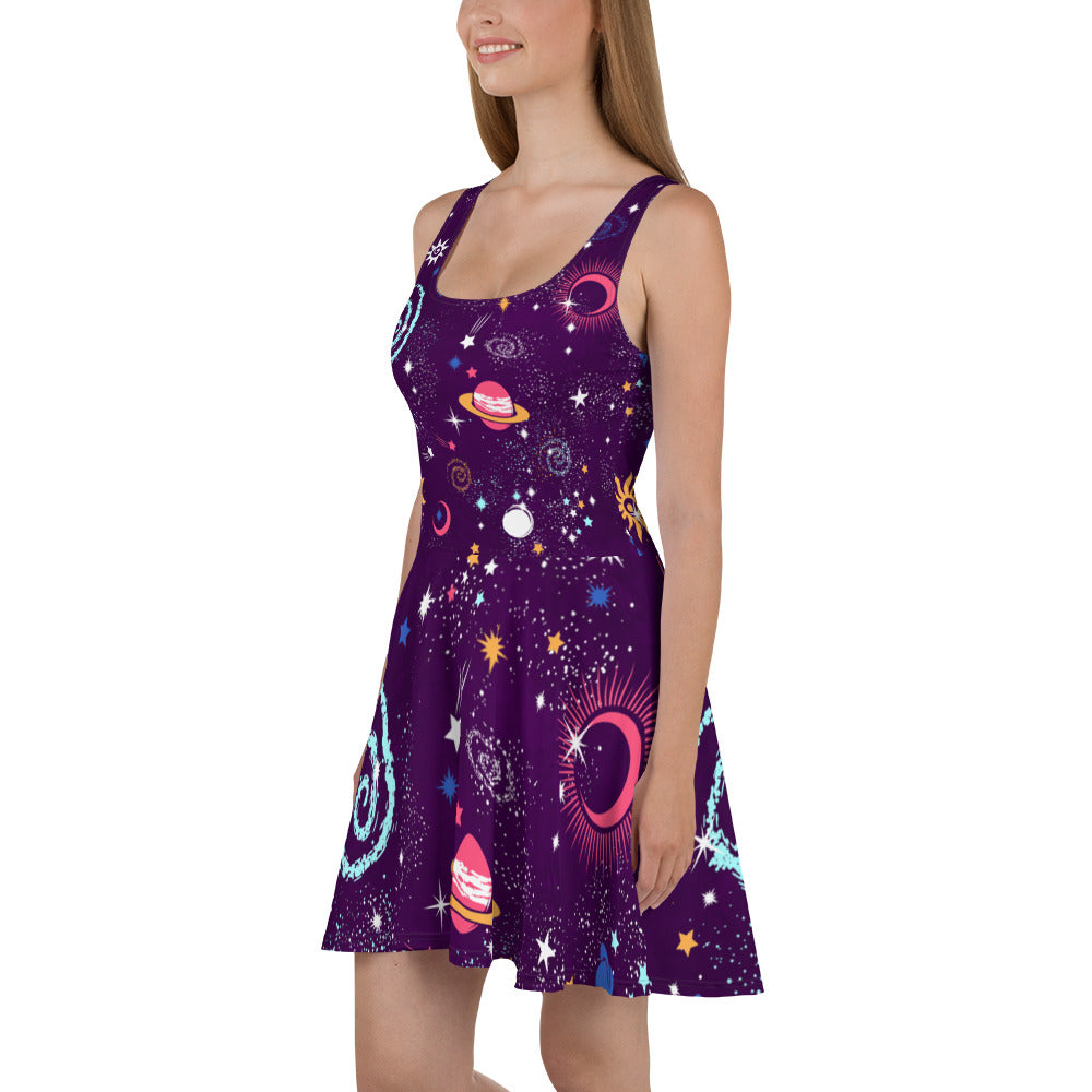 Galaxy Skater Dress Purple Galaxy Dress