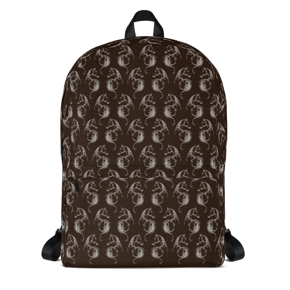 Horse Backpack Horse Book Bags Brown Backpack
