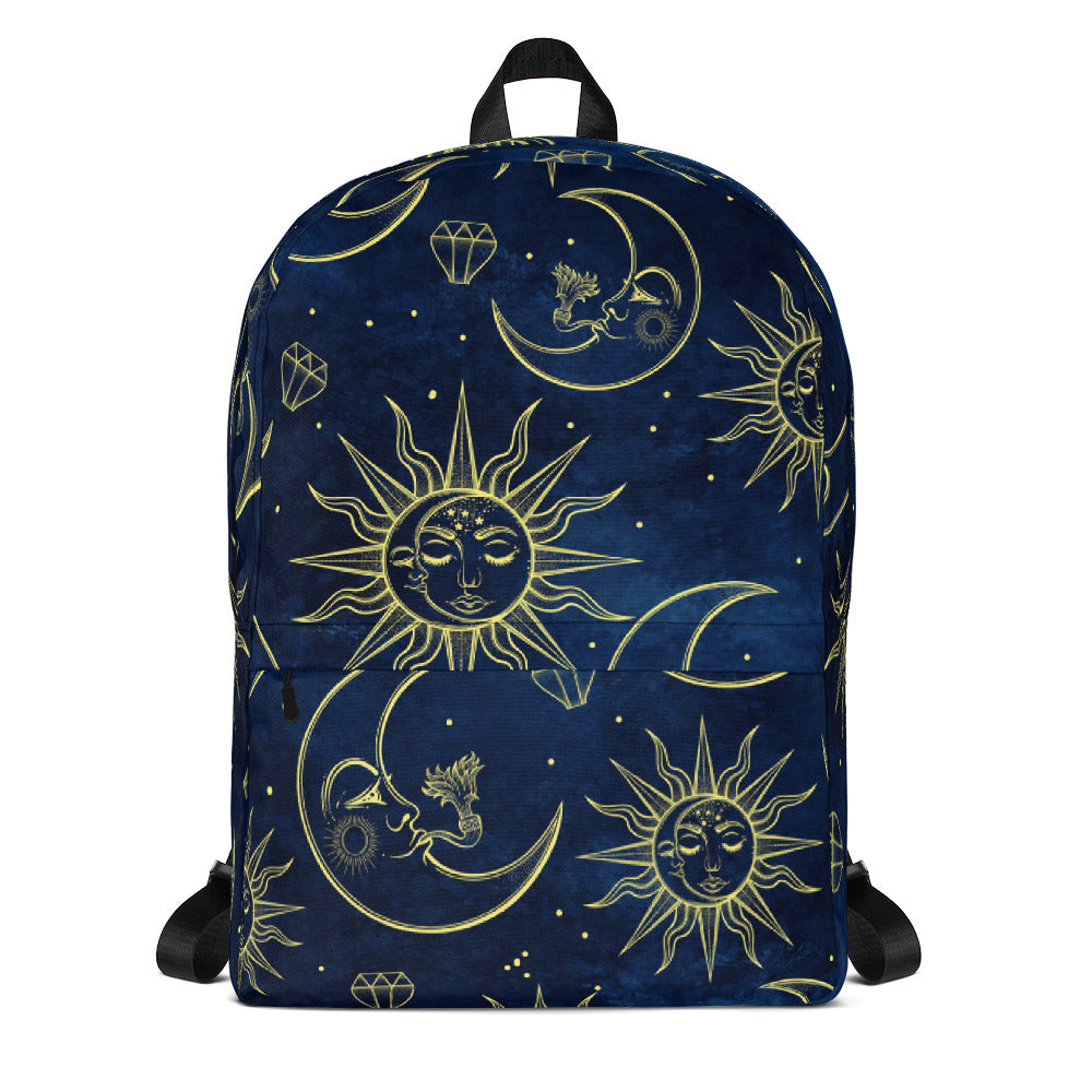 Moon Accompanies Sun Backpack Laptop Bag Travel Daypack Schoolbag Bookbag