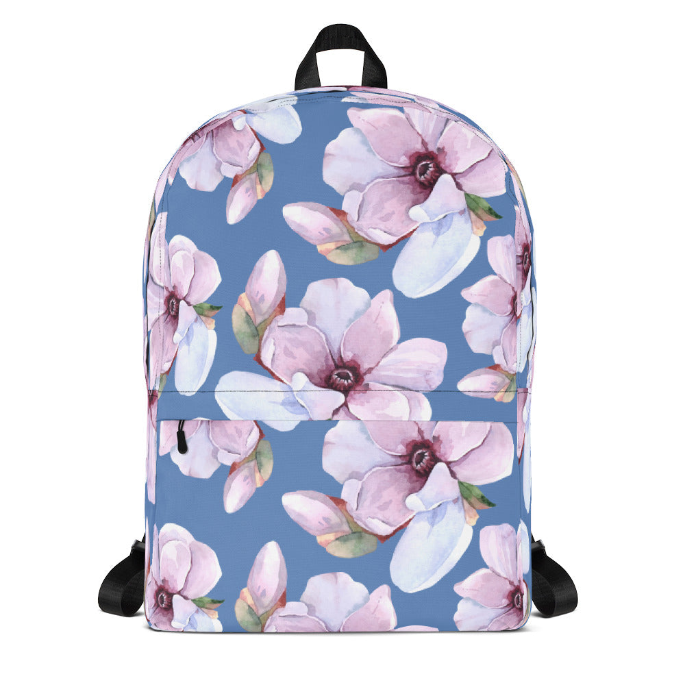Floral Backpack Blue Backpack