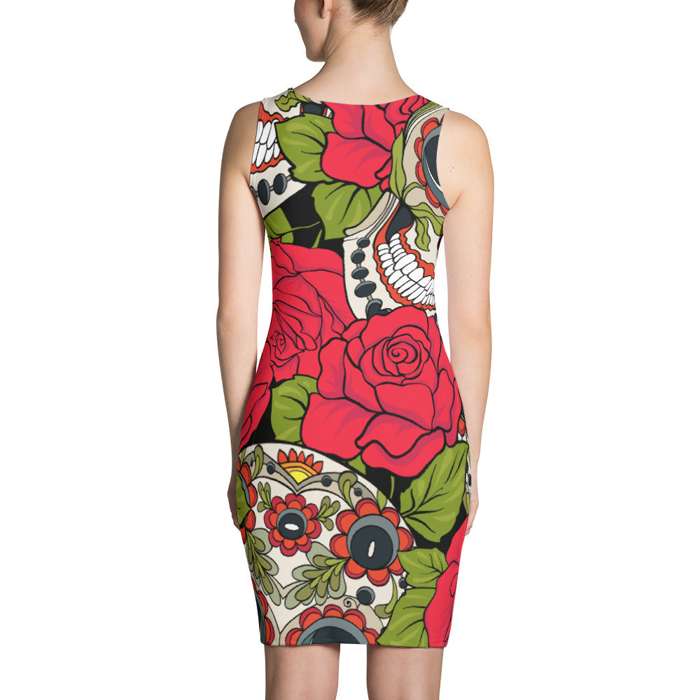 81e823367c7 Day of The Dead Sugar Skull Dress - uscoolprint
