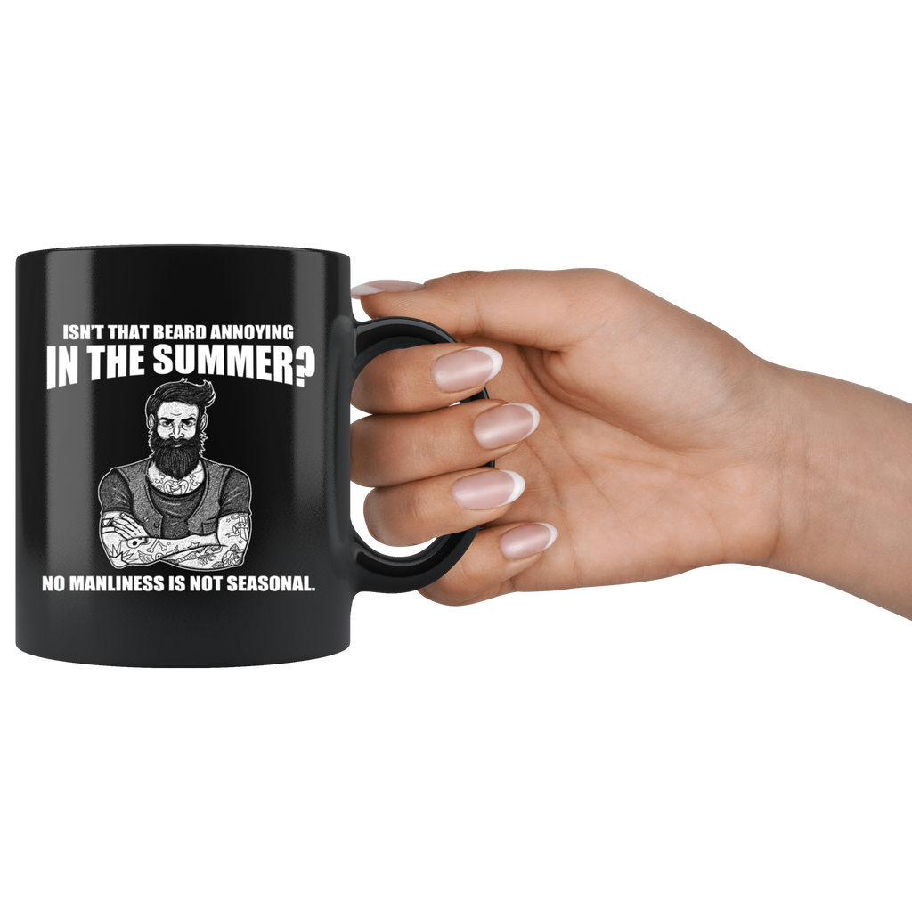 Funny Beard Black Ceramic Coffee Mug Quotes Cup Sayings