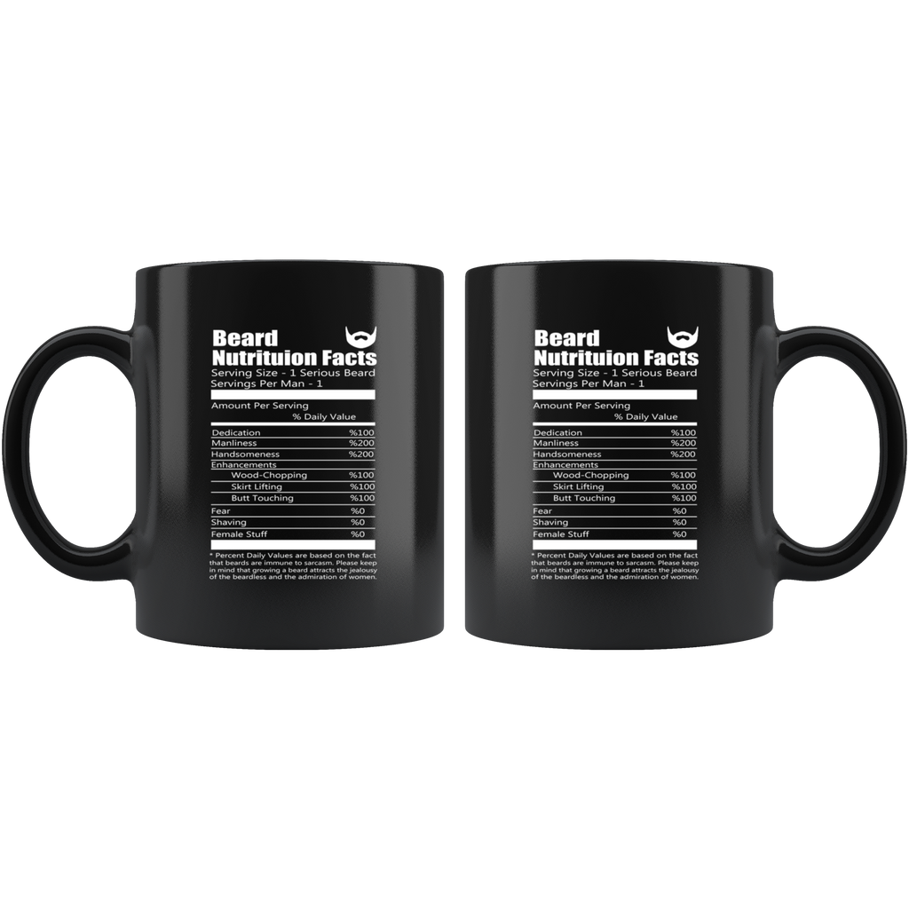 Beard Black Ceramic Coffee Mug Quotes Cup Sayings