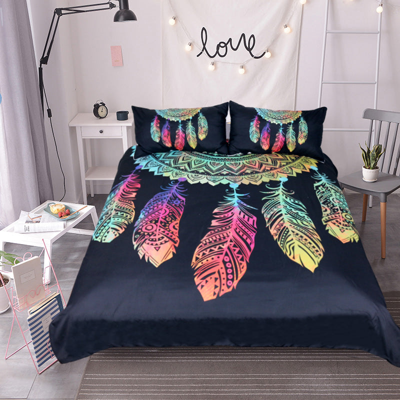 Dreamcatcher Bedding Set King Colorful Duvet Covers + 2 Pillowcases