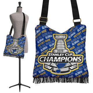 St. Louis Blues Stanley Cup Champions 2019 Crossbody Handbag MN06