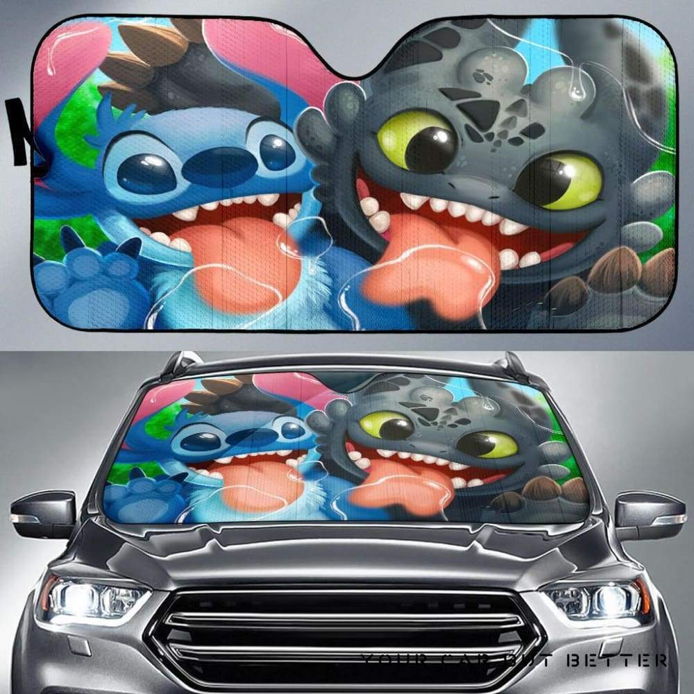 Stitch Toothless Car Auto Sun Shade