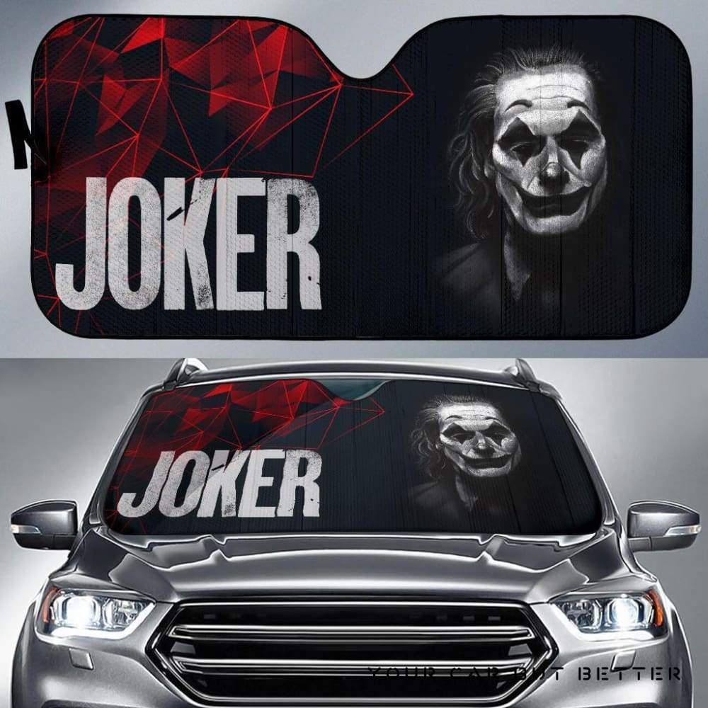 Suicide Squad Car Sun Shade Art Joker Movie Fan Gift