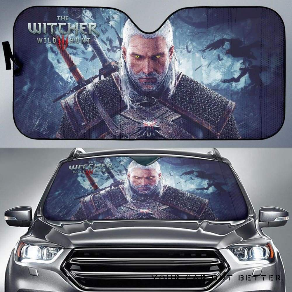 The Witcher  Wild Hunt Geralt Car Sun Shades Game