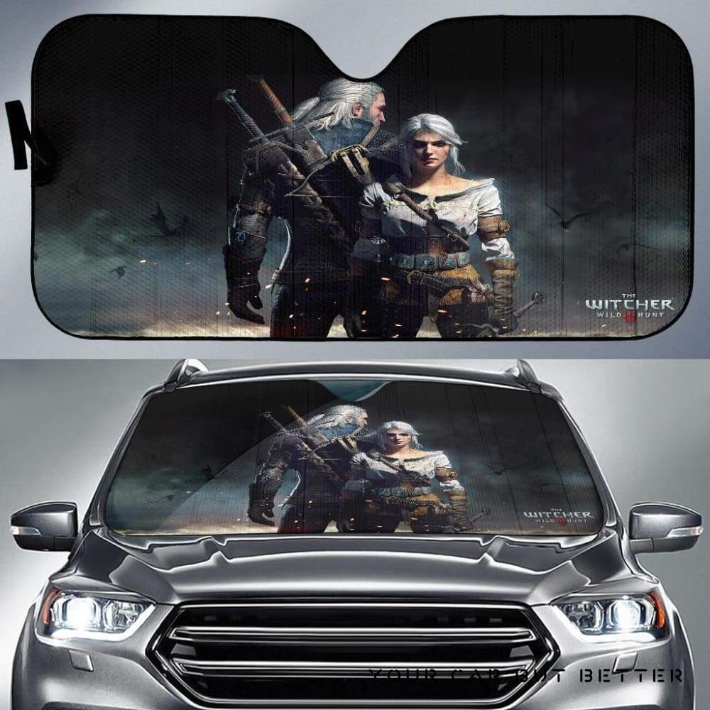 The Witcher Movie Couple Car Auto Sun Shade