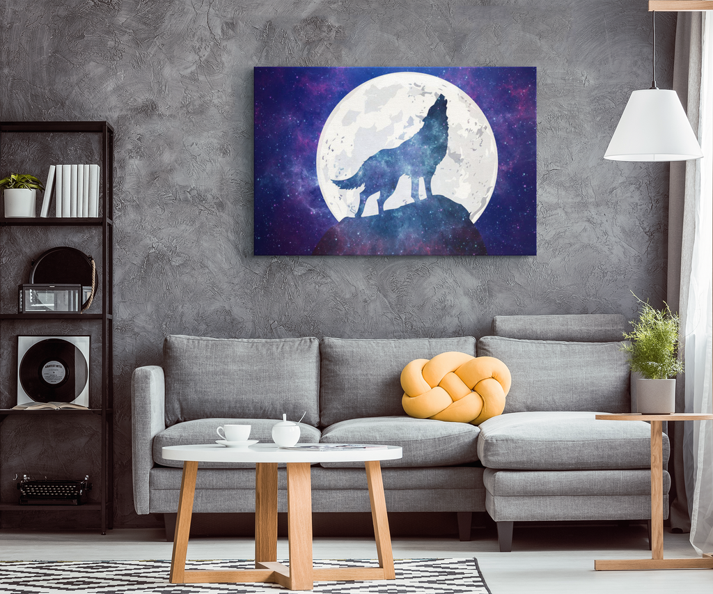 Wolf Moon Canvas Wrap