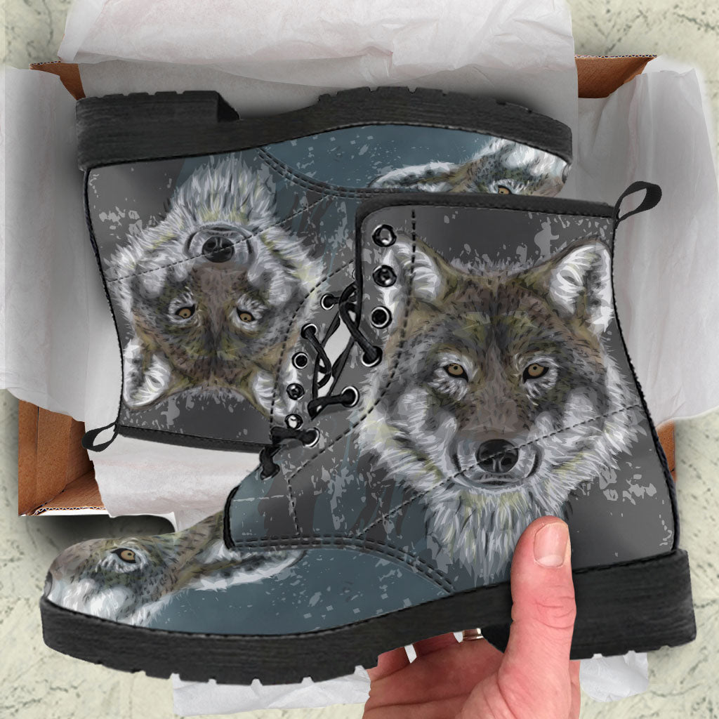 Wolf Grey Women's Leather Boots