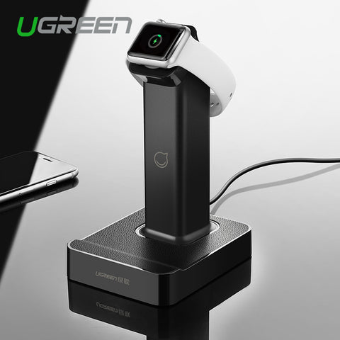 Ugreen 2 en 1 estación de carga de soporte magnético con 2 cargador de usb muelle para Apple Watch iPhone 6 6s 5c para Samsung S6 para iPad Air