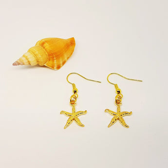 GOLD Starfish Dangling Earrings