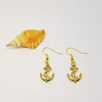 GOLD Anchor Dangling Earrings