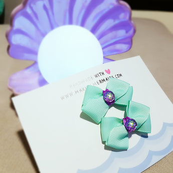 Little Ariel Mini Bows Hairclip