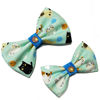 Cats and Yarn Bowtie
