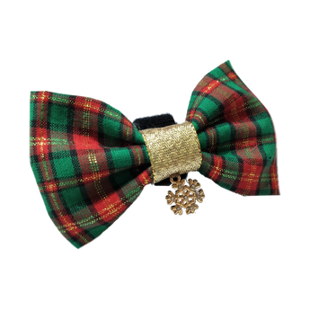2018 Christmas Edition - Holidays Plaits Bowtie (Green)