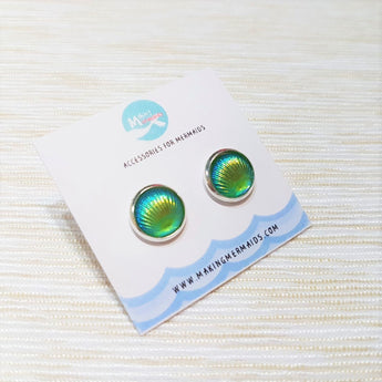 Aurora Seashell Earring (Green)