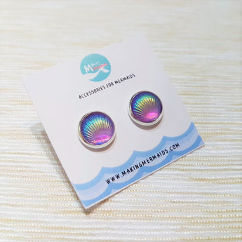 Aurora Seashell Earring (Purple)